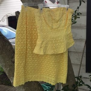 Canary Yellow Two Piece.